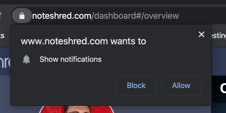 Enabling push notifications in Chrome